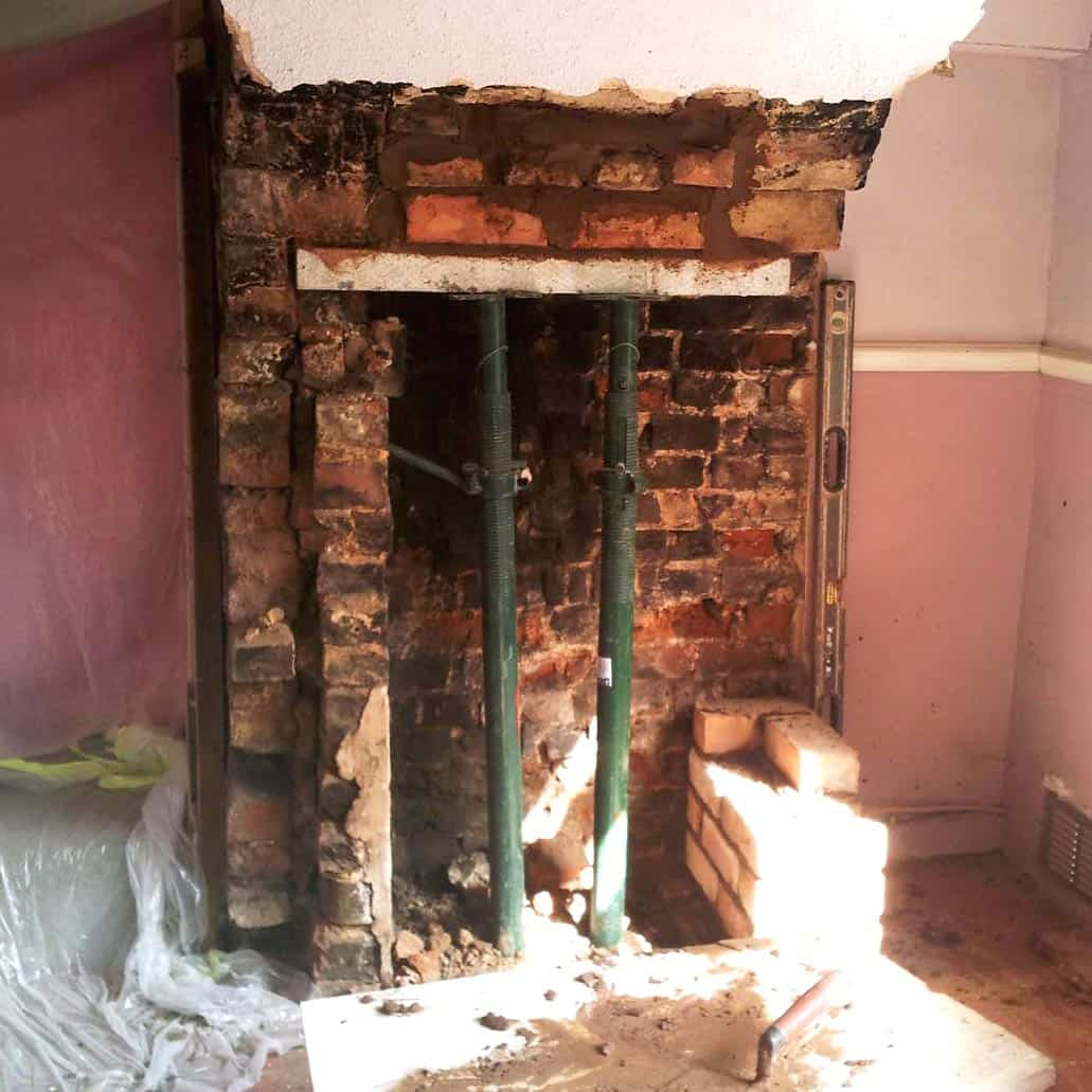chimney breast alteration and repair